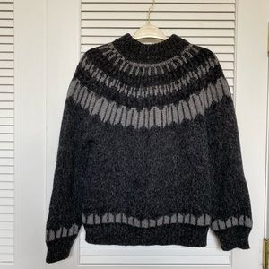 Sweaters - Vintage Fair Isle Thick Knit Sweater